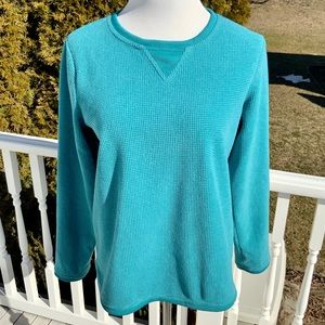 3/$30☀️ Denim & Co Turquoise Sweatshirt